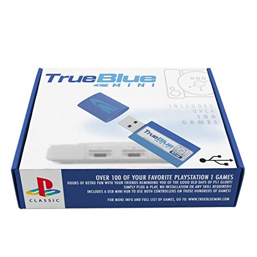 OATop True Blue Mini Crackhead Pack para Playstation Classic, PS1 Mini, 101 Juegos, 64G