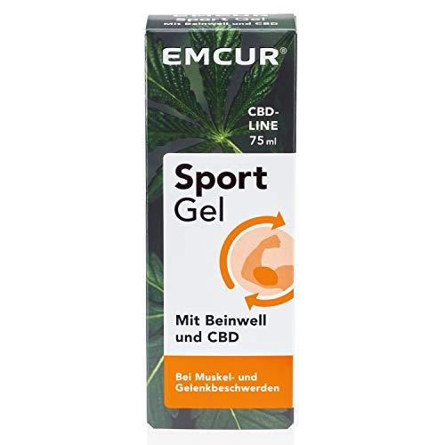 Emcur® Sport-Gel mit Beinwell und 100% synthetischem CBD |Sport-Creme | CBD-Gel | Bei Verspannungen, Muskelkater und Gelenkbeschwerden |Schmerzgel | 75 ml