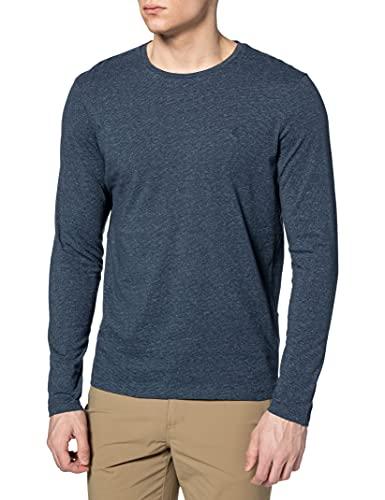 Springfield Camiseta Manga Larga Textura, Azul Medio, XL para Hombre