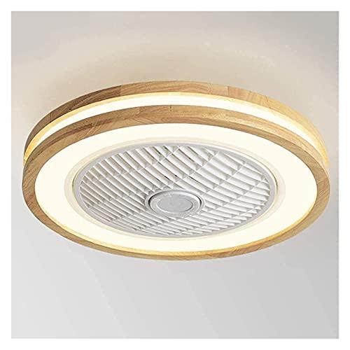Lámpara de Ventilador de Techo de Madera Simplicidad Moderna con iluminación 32W LED con Control Remoto/aplicación móvil Perfil bajo Perfil Ajustable Velocidad de Viento Azulejo Muden Techo Ventilad