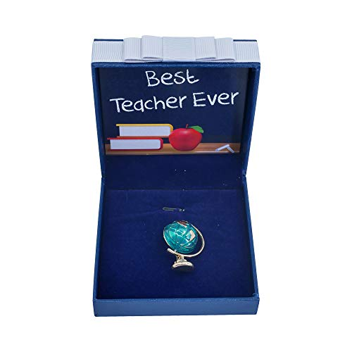 Sincerely For You - Dankeschön-Geschenk für Lehrer, Globus-Brosche für Lehrer, Geschenk für Wertschätzung, Jahresende, Weihnachten, Geburtstag, Abschied, Schule, Geographie.