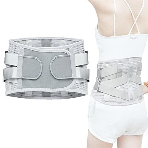 LumbarMatete - Cinturón de soporte lumbar ortopédico con placas acero y terapia calor para la espalda Soporte lumbosacro contorneado que alivia el dolor (XL)