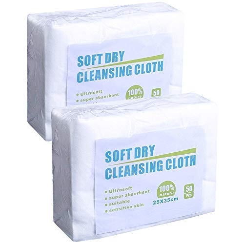 JEBBLAS Dry Cleaning Wipes Can be Used Dry or Wet White 100 Soft Wipes