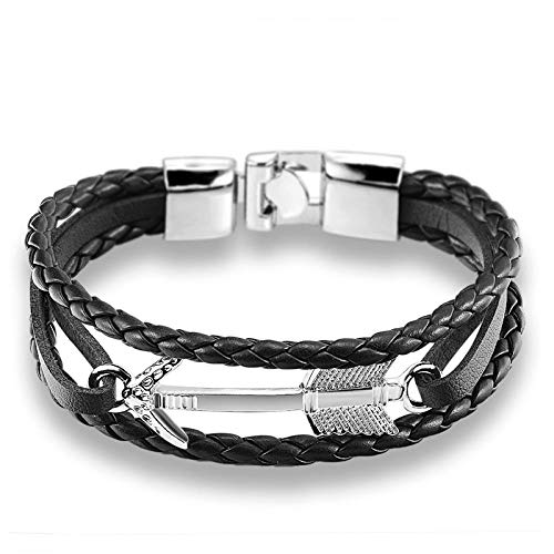 Pulsera Joyas Bracelet Feather Arrow Bracelet Bangle Genuine Leather Hand Chain Buckle Friendship Men Women Anchor Bracelet Hombre Arrowsi