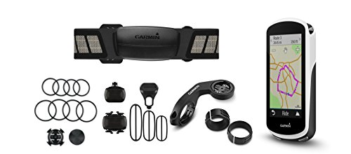 """Garmin Edge 1030 Bundle, 3.5"""" GPS Cycling/Bike Computer with Navigation and Connected Features, Includes Additional Sensors/Heart Rate Monitor"""