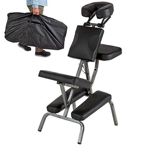 Preisvergleich Produktbild Massagestühle Tragbar Falten Massagesessel Leder Pad Professional Einstellbar Massage Schemel Mit Tragen Tasche