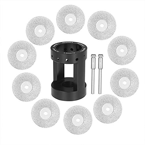 Matedepreso 14pcs/set Afilador de electrodo de tungsteno, herramienta de soldadura de rueda de diamante de cabeza de amoladora de aluminio con 10 ruedas de diamante afilar herramienta (negro)