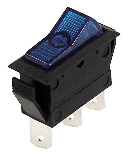 MC POWER - Kfz-Schalter | 3-polig, 12V/20A, blau, 2 Stellungen: EIN/EIN
