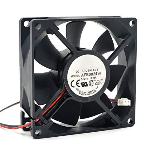 OLDJTK For Delta AFB0824SH 8cm Ventilador de refrigeración 80 * 80 * 25 mm DC 24V 0.33A 4000rpm 46.62CFM 2-Pin más frío