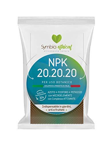 Symbioethical NPK 20-20-20 Fertilizzante Universale 1Kg. AZOTO FOSFORO POTASSIO con MICROELEMENTI e Complesso ATTIVANTE