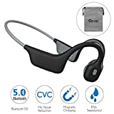 Open-Ear Bone Conduction Headphones Microphone Noise Reduction Magnetic Charging IP56 Sweatproof...