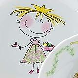 Kahla 32D200A76645C Kids Märchenprinzessin Magic Grip Kindergeschirr Geschirr Set für Mädchen bunt rund 3 teilig Set Tasse Suppenteller Teller - 5