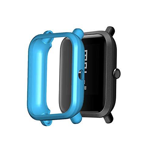Lespar Compatibile per Xiaomi Huami Amazfit Bip Youth/Lite Watch Pellicola Protettiva Cover, Custodia di Ricambio Cover Shell Frame Protector Pellicola Protettiva Cover Screen Protector
