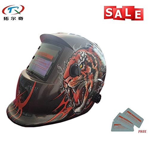 Welding helmet|welding mask|Set Fast Delivery Best Welding Mask Chameleon Auto Darkening Full Face Cool Welder Tools Welding Helmet TRQ-HD42 with 2233de|By KALLAR