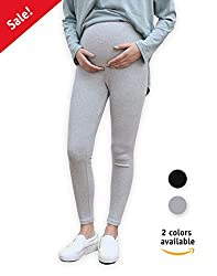 0a79f9c53bd90 Uniform Cotton Over-the-Belly Maternity Leggings for Pregnant Women | Maternity  Pants for Pregnancy