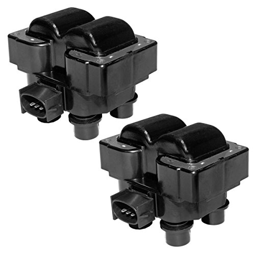 MAS Pack of 2 Ignition Coils Compatible with Ford Lincoln Mercury C924 FD-487...