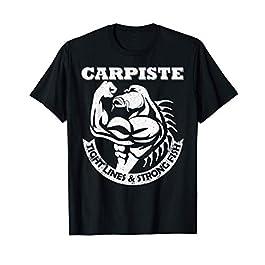 Poisson Musclé Carpe Pêcheur de carpes Cadeau Peche Carpiste T-Shirt