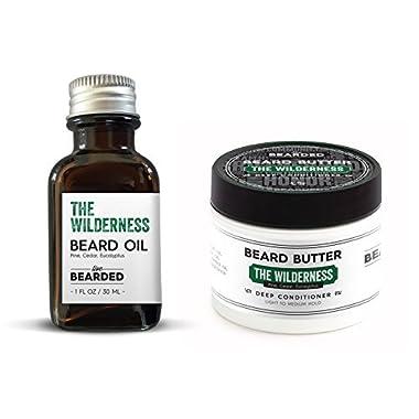 Pine, Cedar, Eucalyptus Beard Oil Kit | Live Bearded Made in USA | Wilderness Mens Beard Oil Kit
