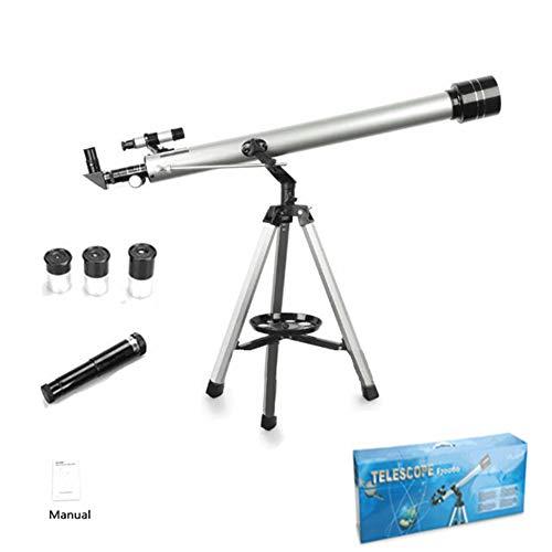LLEH Teleskop, 60 mm Apertur 900 mm AZ Mount Astronomical Refracting Telescopes für Kinder Anfänger - HTK106