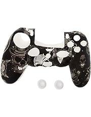 YUZI Kontroler gamepada silikonowa osłona rękawa osłona ochronna + 2 nakładki mocujące kompatybilne z PS4