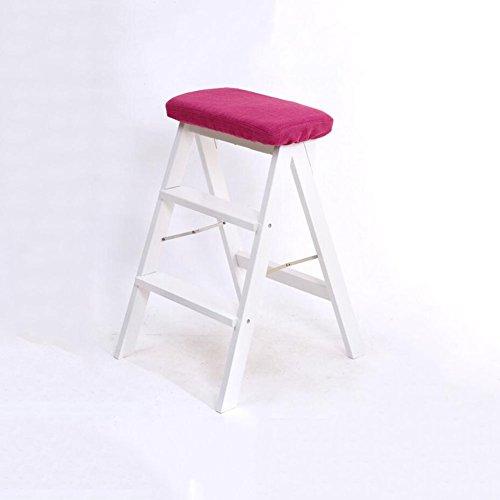 cjc Holzstuhl Esszimmerstuhl Leiter Multifunktions Sitzbezug Abnehmbar modern (Farbe : 3)