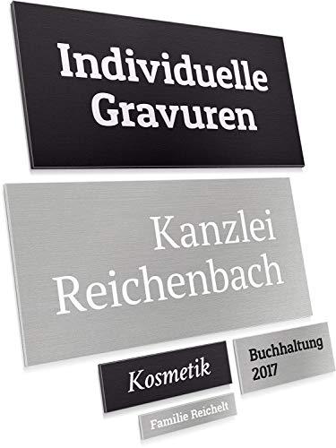 Namensschild Türschild mit Gravur aus hochwertigem Aluminium – selbstklebend wetterfest