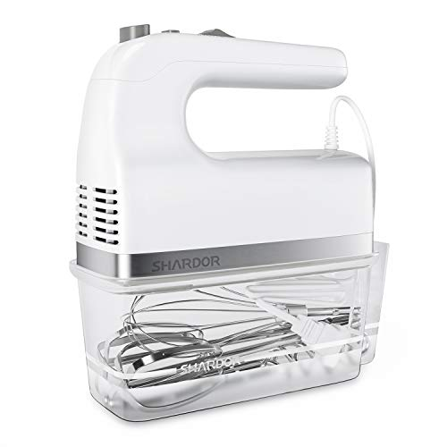 SHARDOR Hand Mixer 350W Power Advantage Electric Handhold Mixers with 5 Stainless Steel...