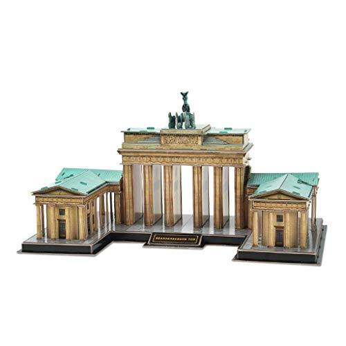 NBgycheche Exquisito Rompecabezas Tridimensional Puzzle alemán Brandeburgo Puerta Edificio Modelo Rompecabezas Creativo ensamblaje Juguete Regalo Espesar Rompecabezas
