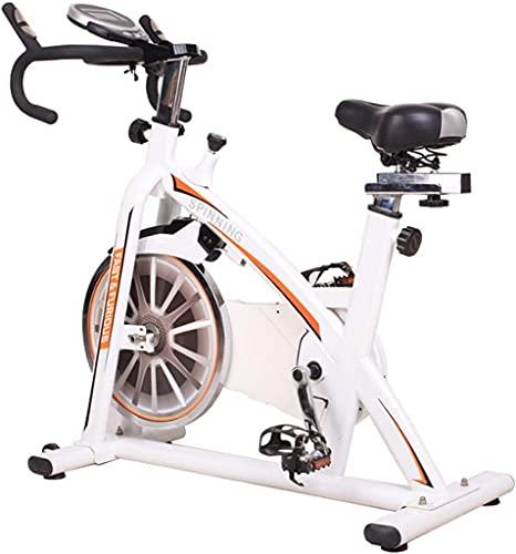 NBLD Bicicleta de Spinning Bicicleta de Ejercicio de Interior, Home Gym Magnetron Resistance Spin Bike, Bicicleta Fija con Asiento y asa Ajustables