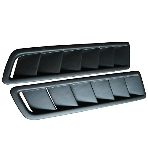 Universal Fitment Air Flow Hood Vent Scoop Bonnet Cover 2PC 20X12CM - PP by IKON MOTORSPORTS