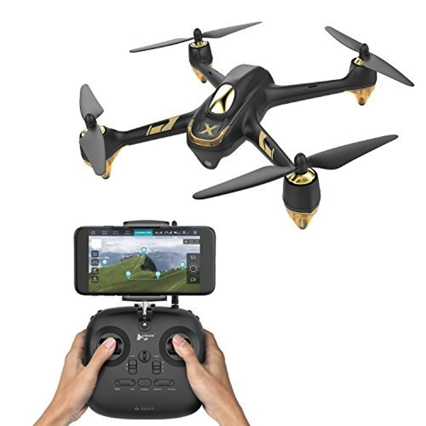 HUBSAN H501A+ X4 Drone Brushless WiFi GPS and App Compatible 6 Axis Gyro 1080P HD Camera RTF Quadcopter (Upgraded Version H501A+)