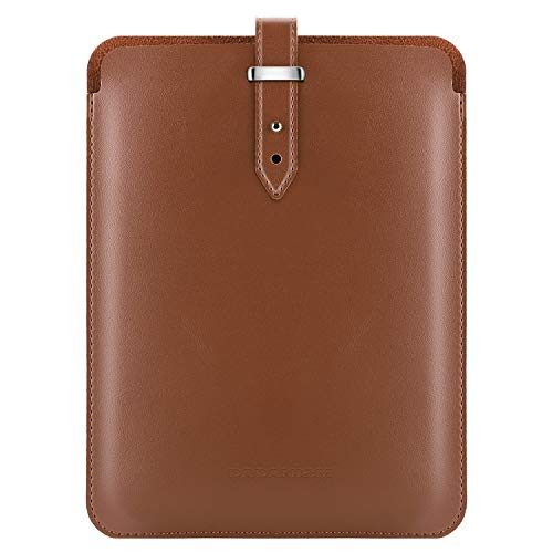 Dadanism 9.7 Tablet Sleeve Case for 2018/2017 iPad 9.7 6th/5th Generation/iPad Pro 9.7 2016 / iPad Air/Air 2, Premium PU Leather Pouch Protective Cover Bag E-reader Carrying Bag - Brown