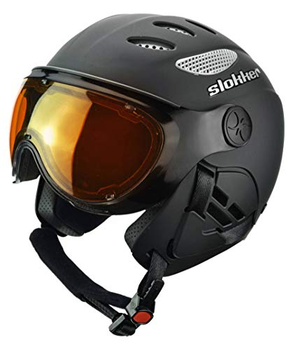 Slokker Skihelm/Visierhelm Raider Pro schwarz (200) L