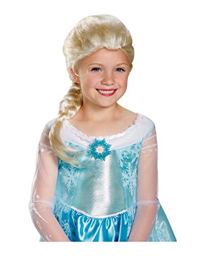 Horror-Shop Perruque d'enfant Elsa congelée