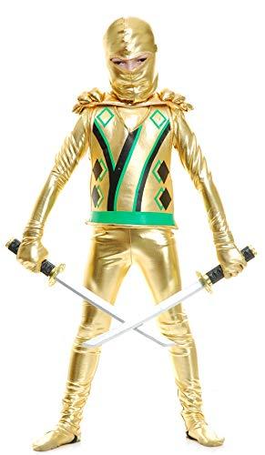 Charades Child's Ninja Avengers Series III Costume, Gold, Toddler