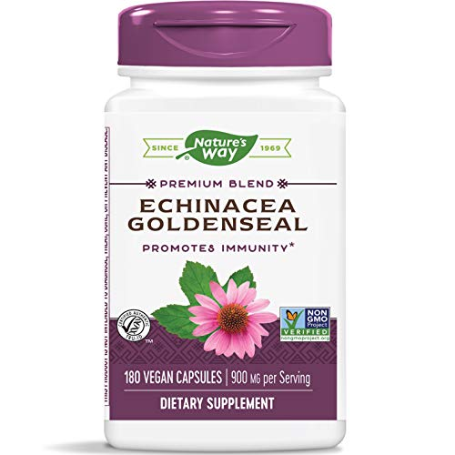 Nature's Way Echinacea Goldenseal, 900 mg per serving, 180 Capsules