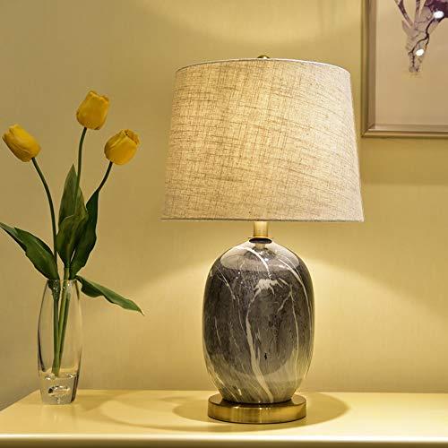 De enige goede kwaliteit Decoratie Eenvoudige Creatieve Zwarte En Witte Steen Keramische Tafellamp Woonkamer Studie Slaapkamer Nachtlampje Stof Tafellamp 36 * 64cm
