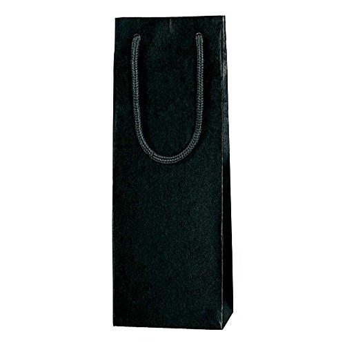 ヘイコー 手提 紙袋 カラーチャームバッグ ワインL クロ 13x9x36cm 10枚