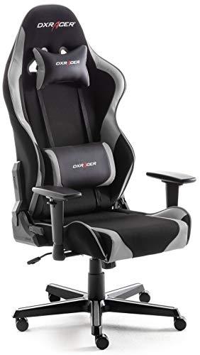 Robas Lund DX Racer 6 OH/FD32/NW  Gaming-Stuhl/ Büro-/ Schreibtischstuhl, mit Wippfunktion Gamer Stuhl Höhenverstellbarer Drehstuhl PC Stuhl Ergonomischer Chefsessel, schwarz-weiß