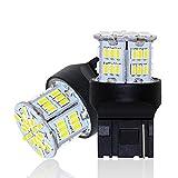 12V-24V車用 T20シングル球 ウインカー ホワイト LEDバルブ LEDライト LEDランプ54連3014SMD 汎用 変換 超高輝度 6000-6500K 1年保証 (2個セット)
