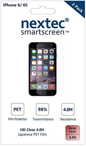 nextec iPhone 6 Schutzfolie, iPhone 6 Displayschutzfolie Schutzfolie Displayschutz Screen Protector für Apple iPhone 6S/ 6/ 6C (HD Clear 4.0H) PET Film - Basic Pack