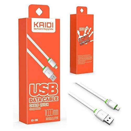 Cabo Usb Carregador Rapido Kaidi Original Para Iphone 5 5S 6 6S Plus 7 8 X