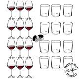 Rocco Bormioli - Servizio Per 12 Persone, Set 26 Pz: 12 Calici Vino Rosso DIVINO + 12 Bicchieri...