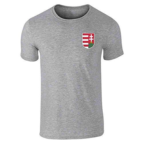 Hungary Soccer Retro National Team Costume Gray 4XL Graphic Tee T-Shirt for Men