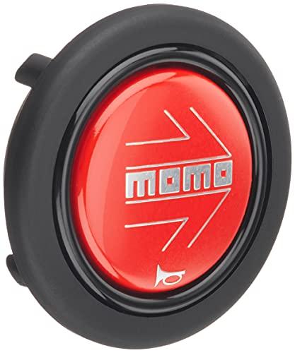 MOMO(モモ) ホーンボタン 【アロー レッド】 ARROW RED (センターリング無し) HB-19