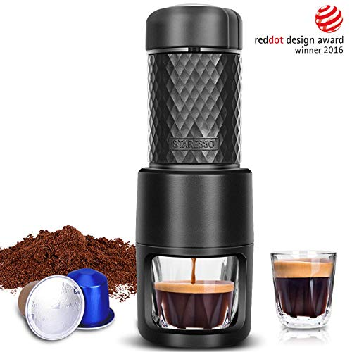 STARESSO Portable Espresso Machine - Manual Espresso for Rich & Thick Crema Mini Espresso Maker...