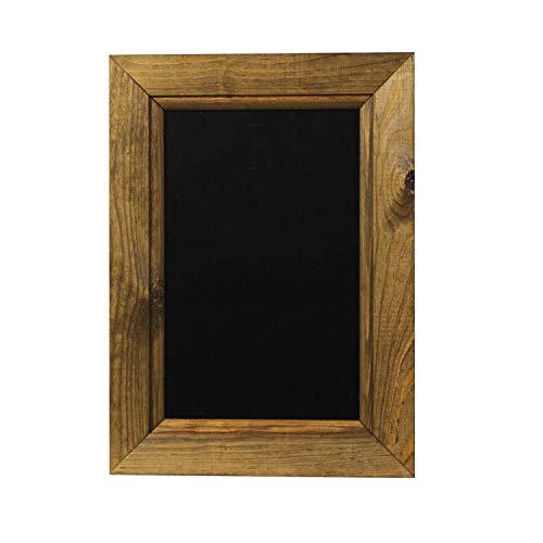 Chalkboards UK - Pizarra enmarcadas con Madera de Roble Oscuro, Madera, Color Negro, Madera, Negro, A4 (33.5 x 24.5 x 2cm)