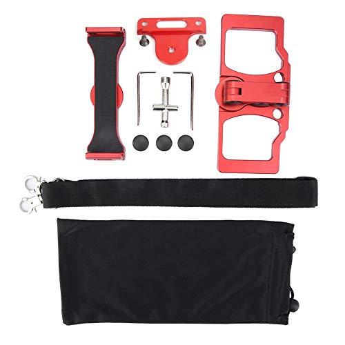 Xinwoer Supporto in Lega di Alluminio con 2 Viti, Staffa Supporto per Tablet Telefono per Telecomando DJI 2 PRO Air Spark Drone(Rosso con Supporto per CrystalSky)