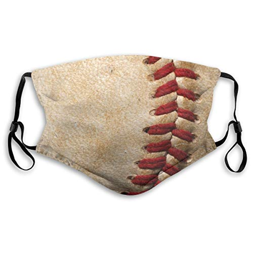 VOSGA Retro Sport Ball Baseball Face Neck Gaiter Scarf Custom Washable Half Buff Face Mask Funny Cute Balaclava Bandana Cloth