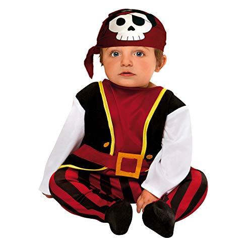 My Other Me Me-203276 Disfraz de bebé pirata, 0-6 meses (Viving Costumes 203276)